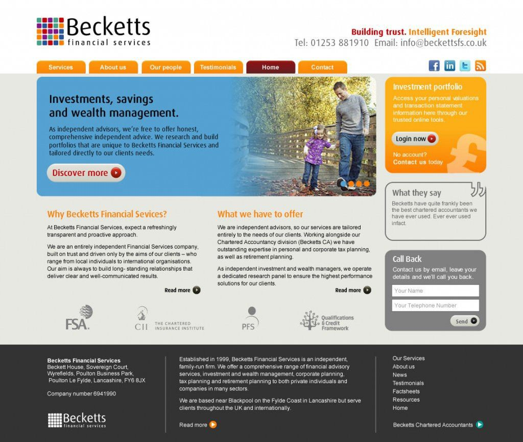 New website for Becketts Accountants