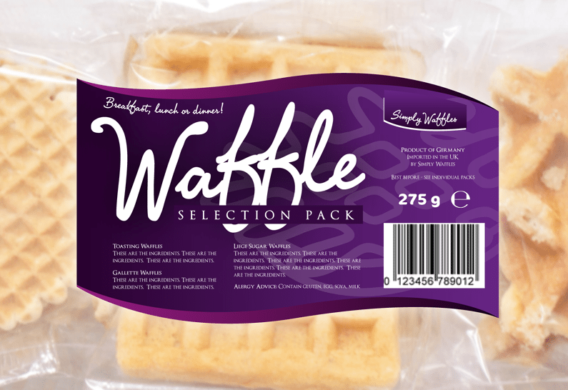 Waffles Packaging Design