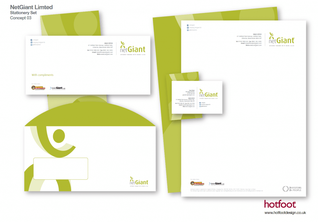 New stationery for NetGiant