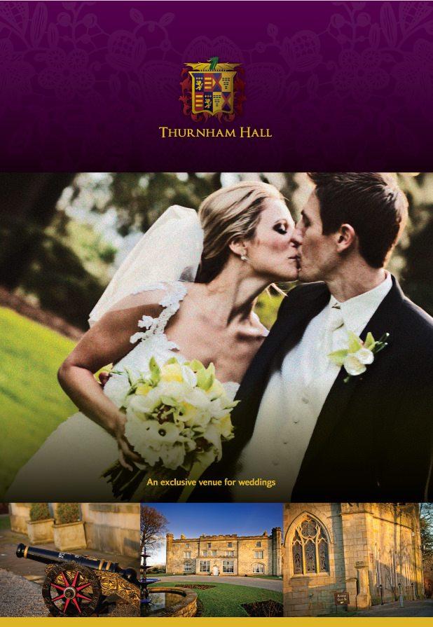 Thurnham Hall wedding folder design