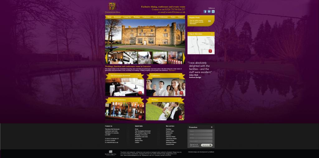 Design work for Thurnham Hall