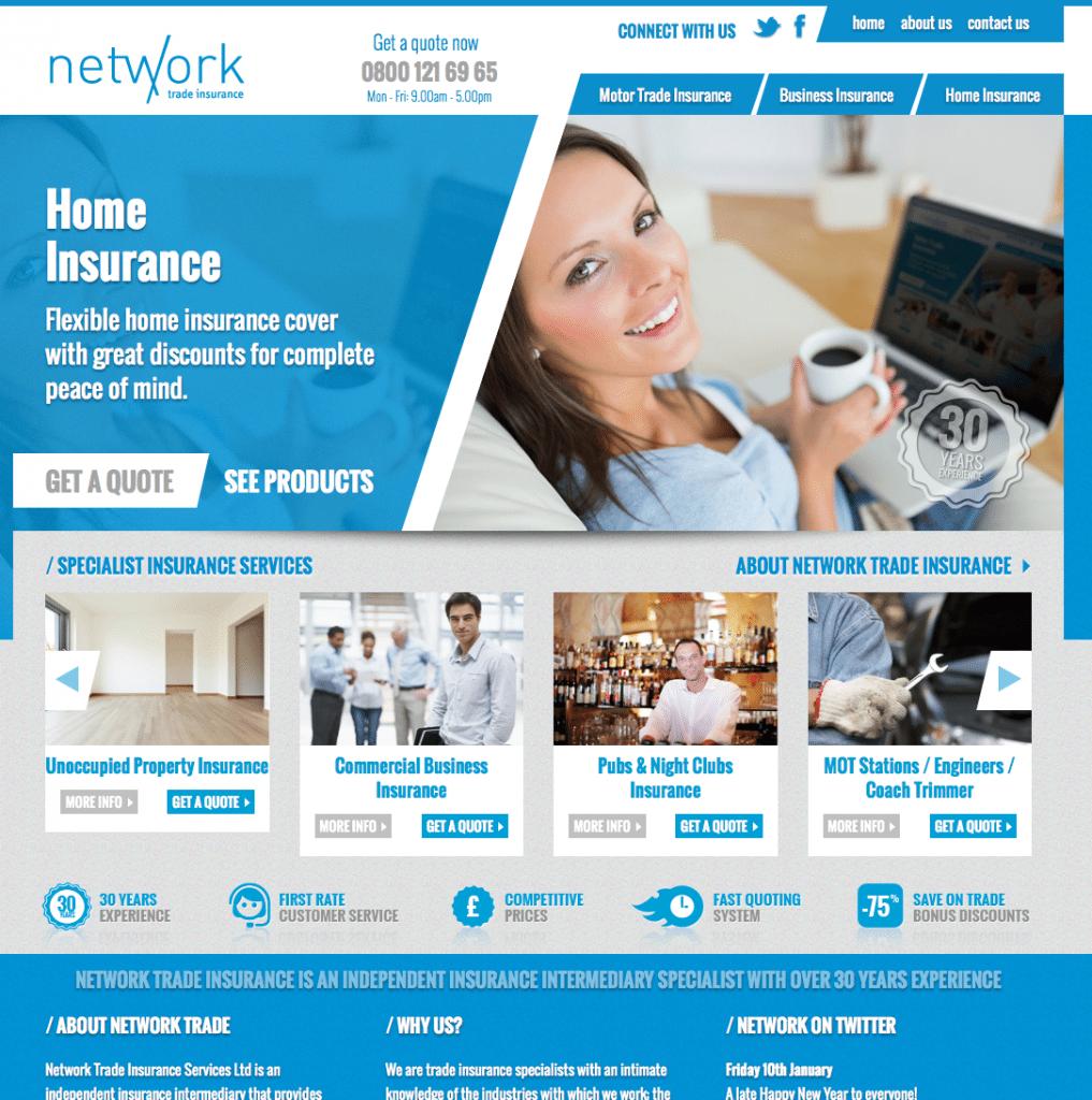 Responsive Insurance Company Website