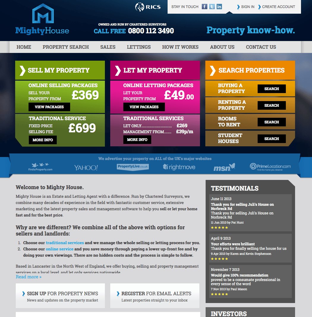 Mighty House Estate Agents New Brand Design