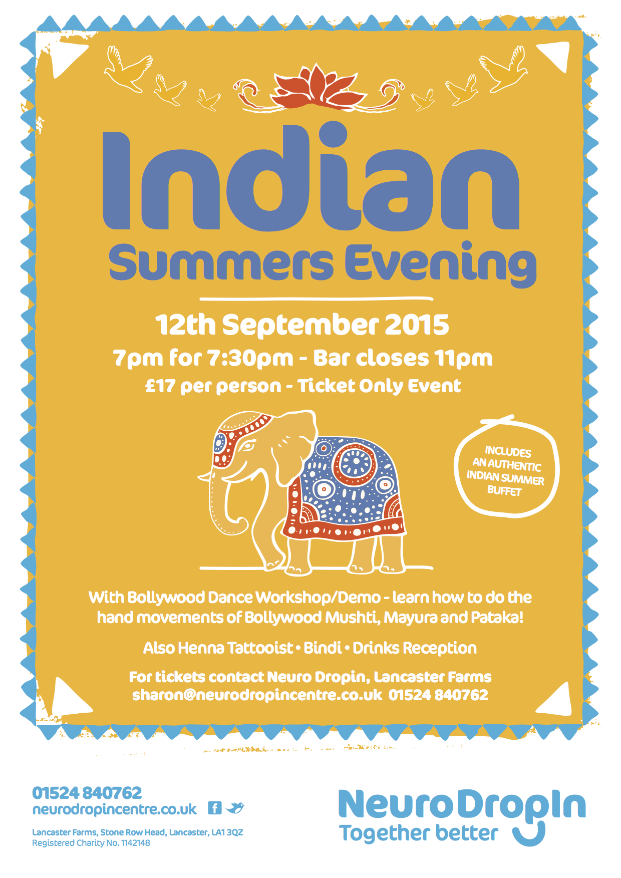 Indian Summers Evening – a new poster for Neuro Dropin