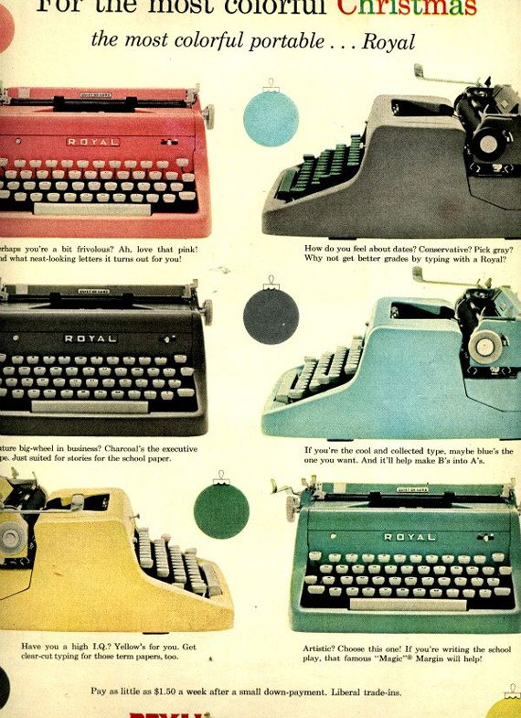 36 vintage ads for typewriters