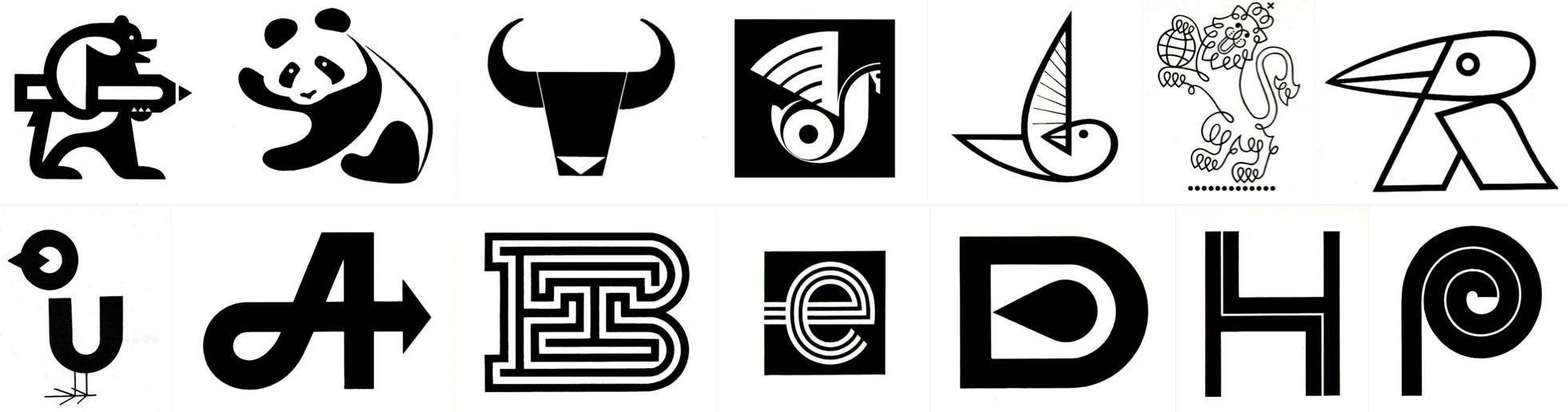monochrome logos from the 50s and 70s hotfoot design