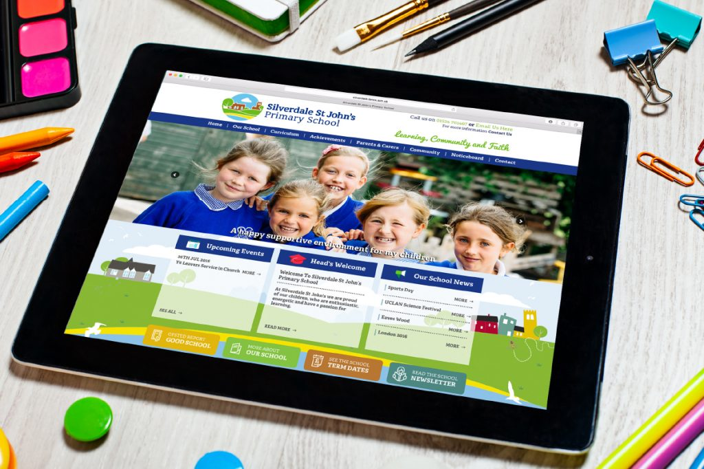New identity and school website for Silverdale St John's