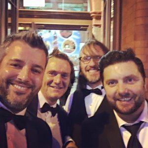 Guy Cookson (Hotfoot), Charlie Haywood (Hotfoot), Andy Walmsley (Wash) and Simon Iredale (Motionlab)