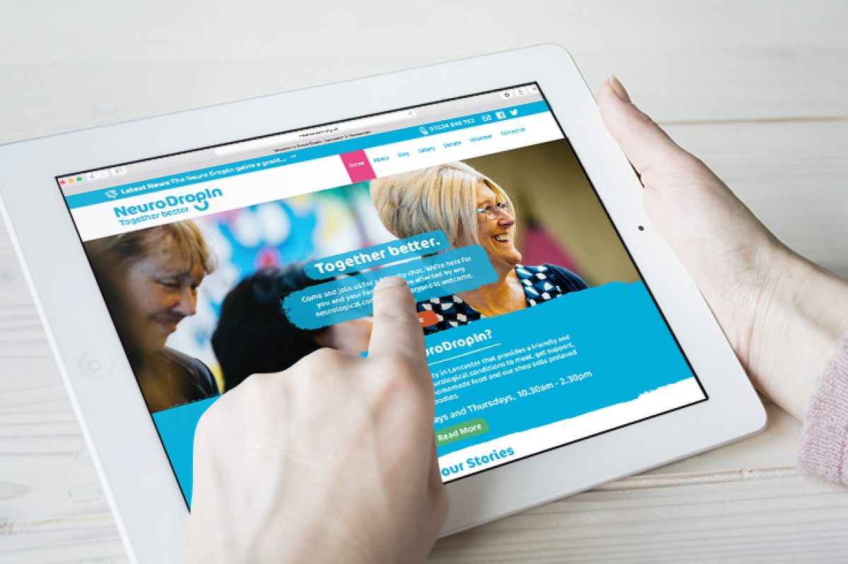 Hotfoot creates a new website for our charity partner Neuro Dropin