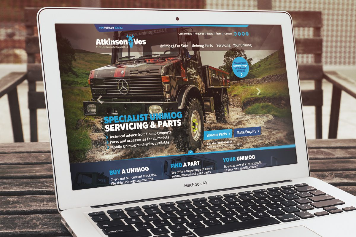 Hotfoot create a new brand and website for Atkinson Vos