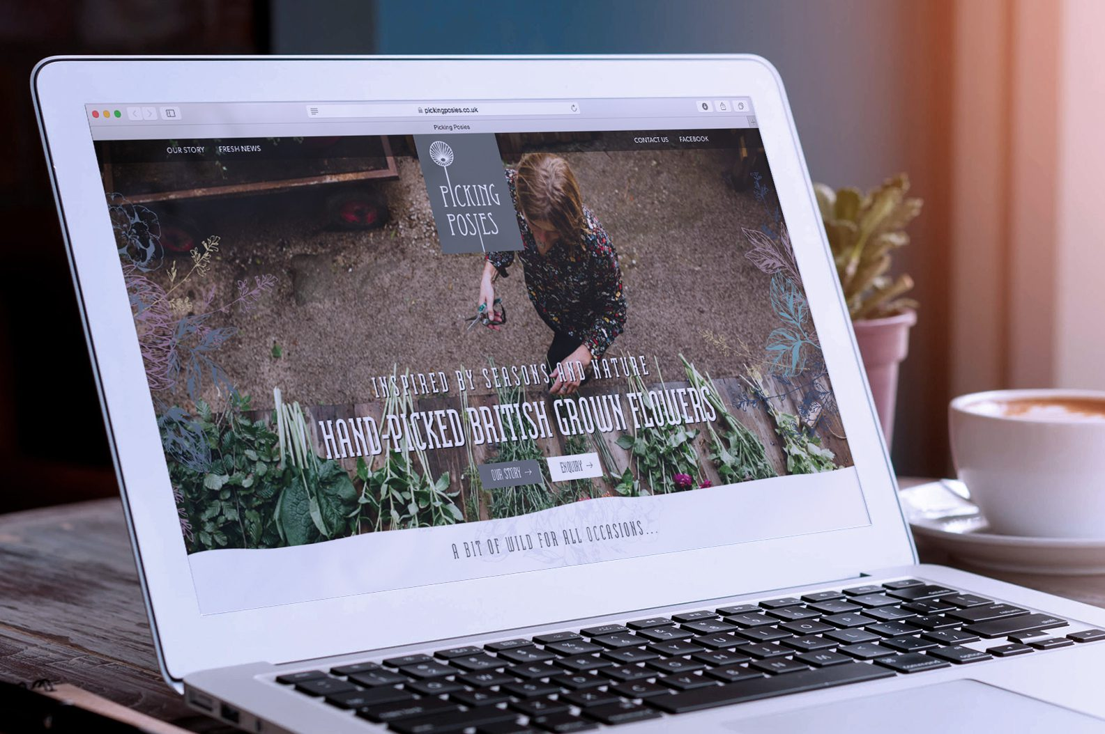Picking Posies launches with a website designed by Hotfoot