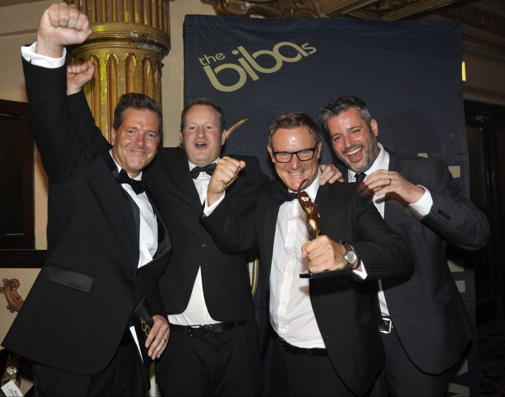 Hotfoot Design win Creative Agency of the Year at the BIBAs 2017