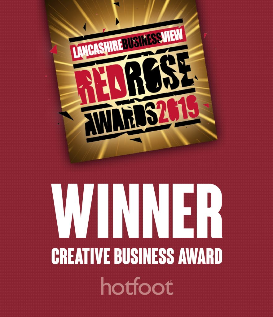 Hotfoot are finalists for the Creative Business Award at the Red Rose Awards 2019