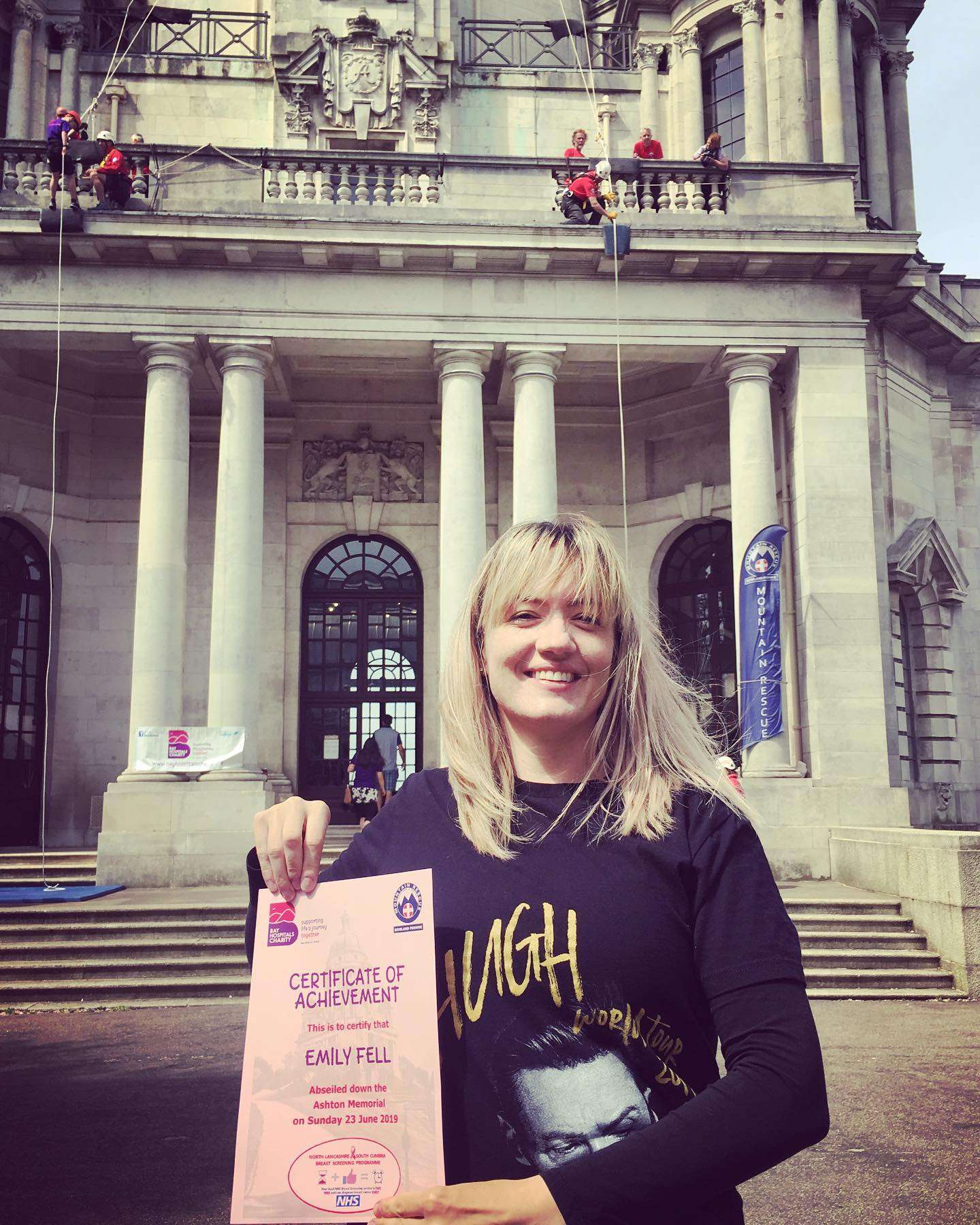 Hotfoot's Emily Fell Abseils Lancaster Landmark For Cancer Charity