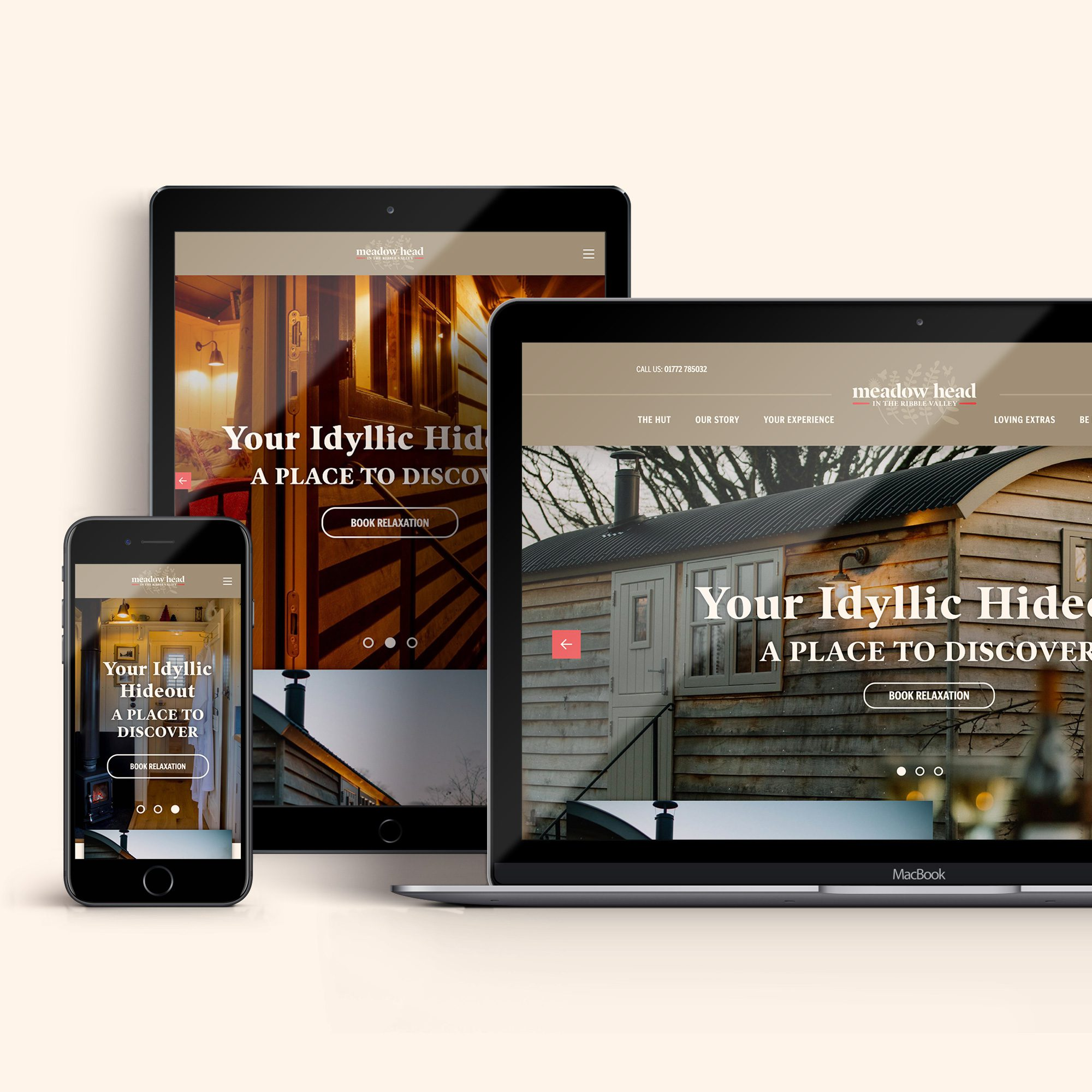 Brand identity and website for Meadow Head in the Ribble Valley
