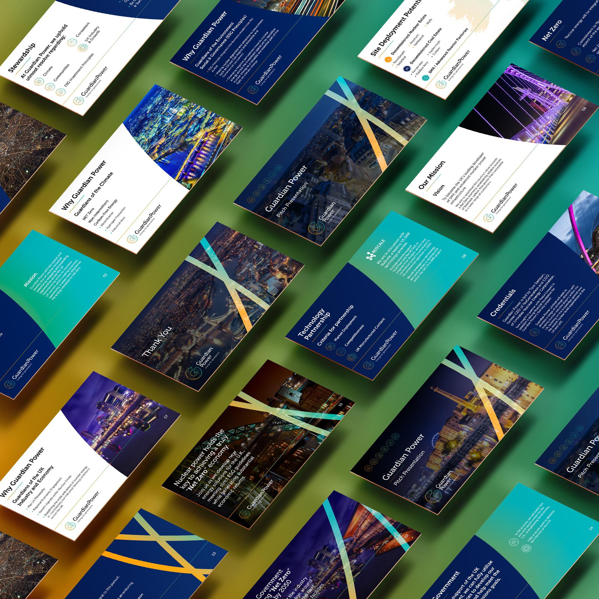 Brand identity and website design for Guardian Power