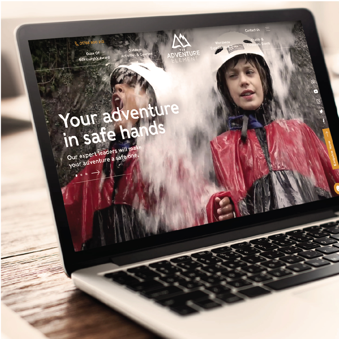 New website design and development for the Adventure Element in Cumbria