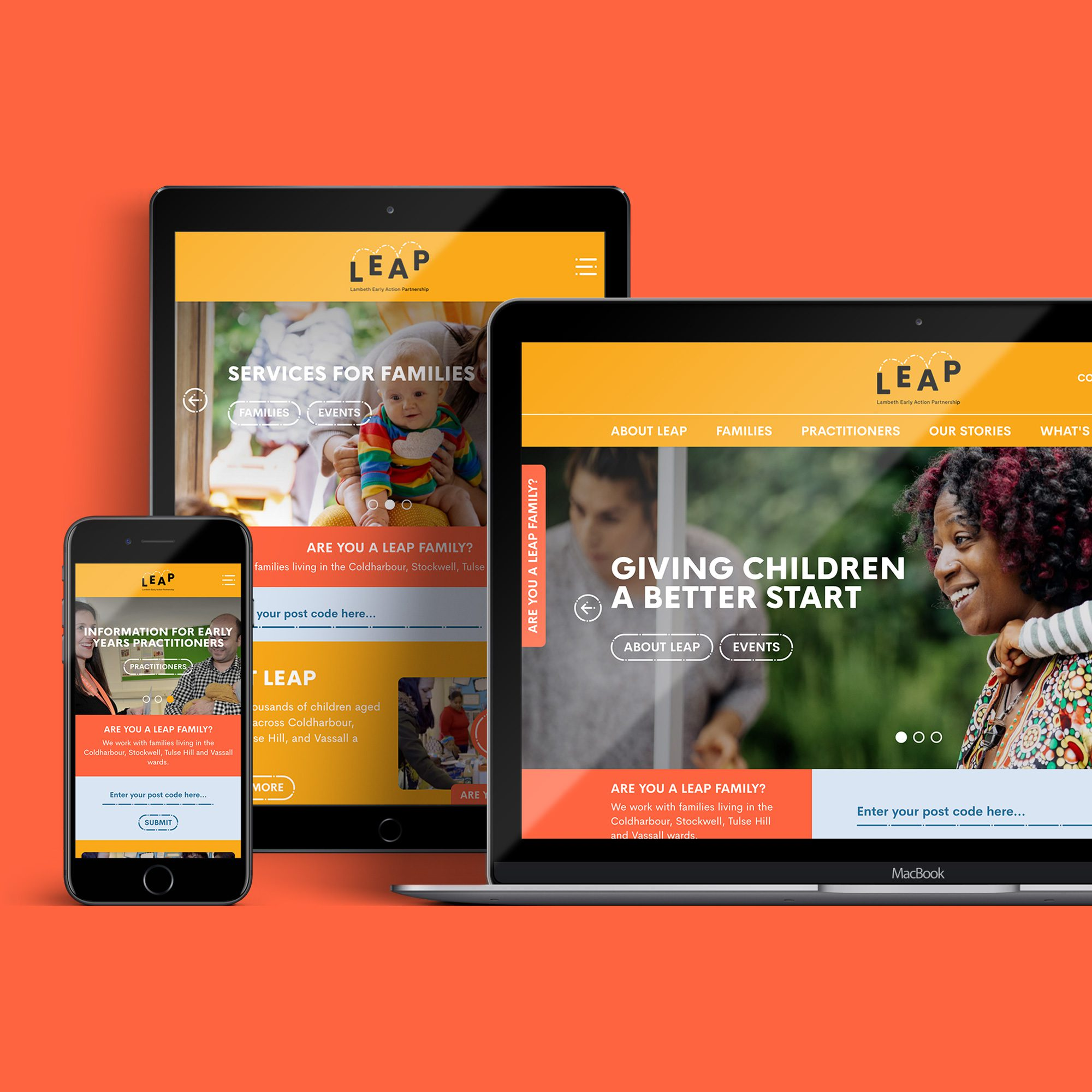 New public sector website design and development for Lambeth Early Action Partnership (LEAP)