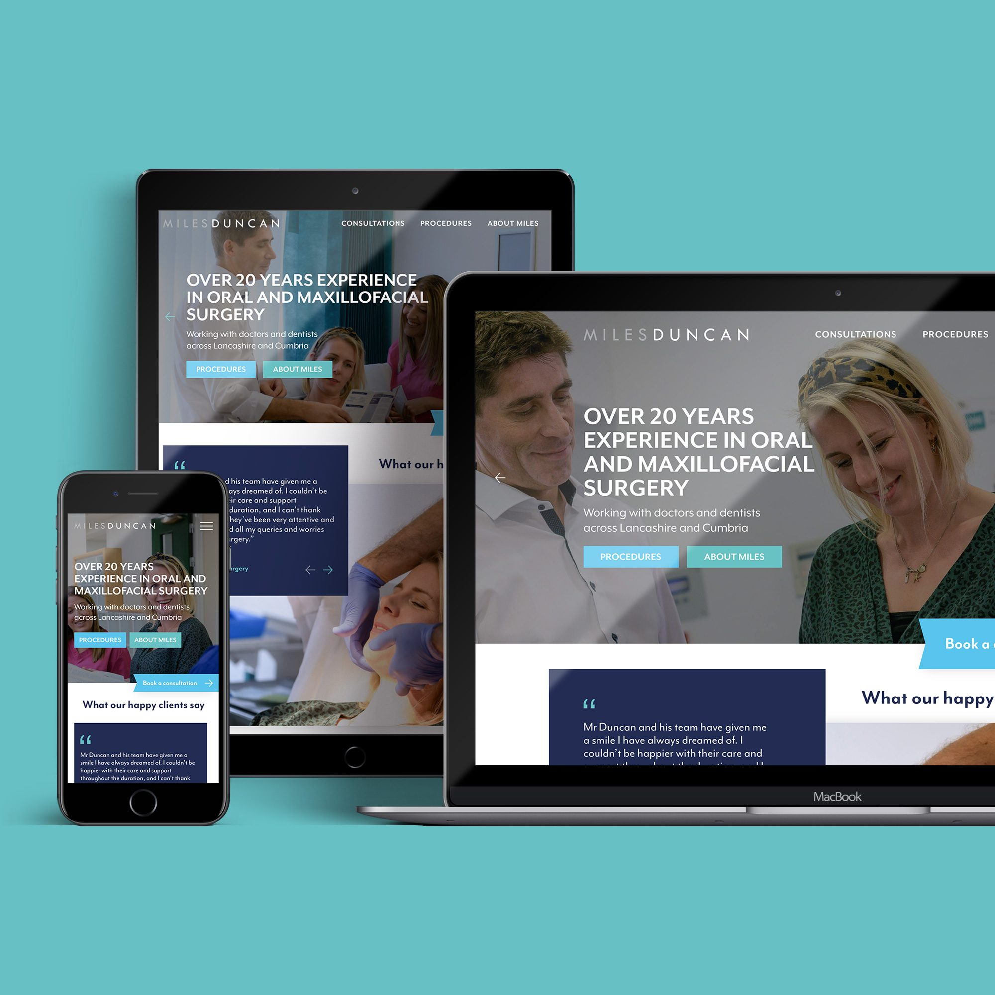 New logo and website design for Lancaster based private surgeon Miles Duncan