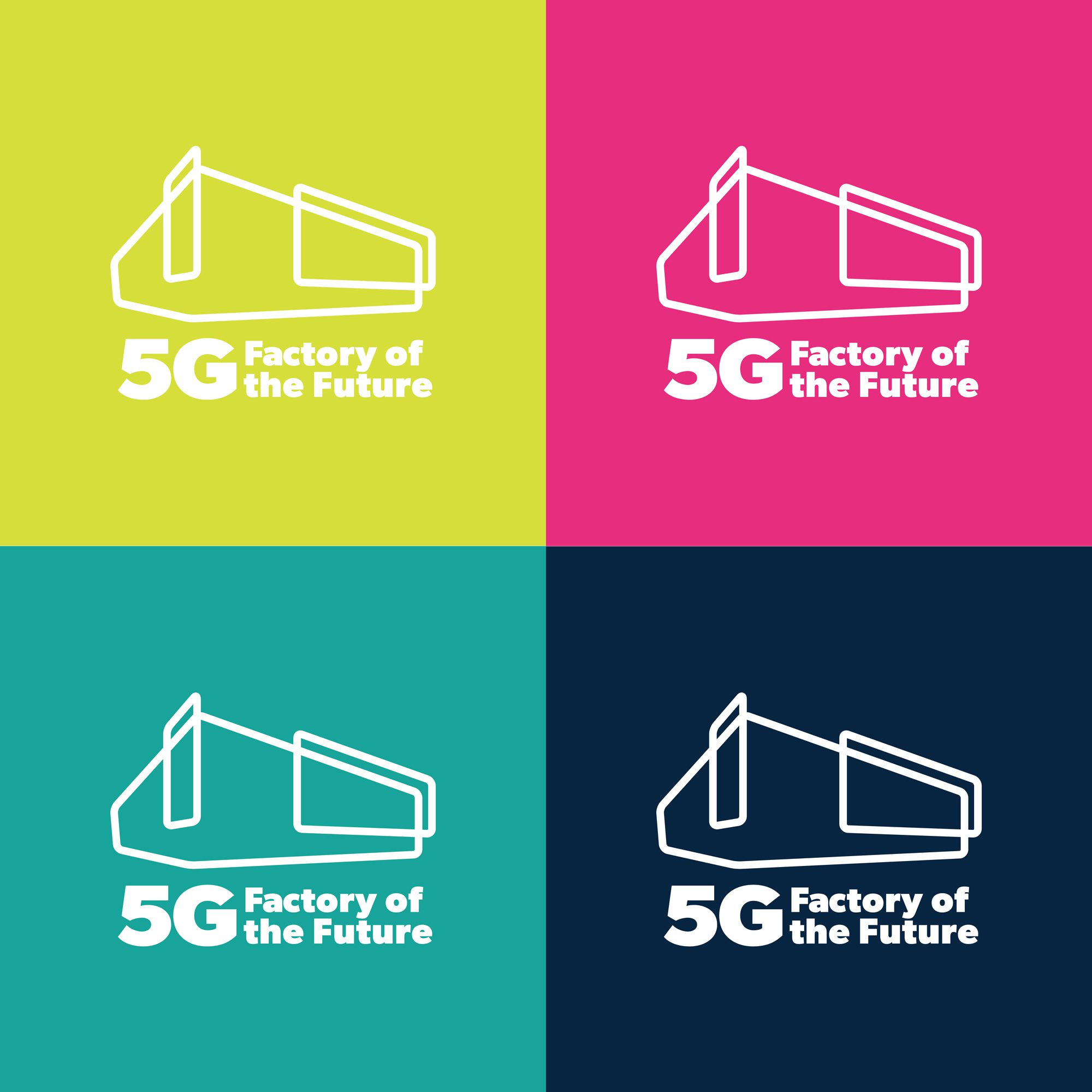 New brand, website design and marketing for 5G Factory of the Future