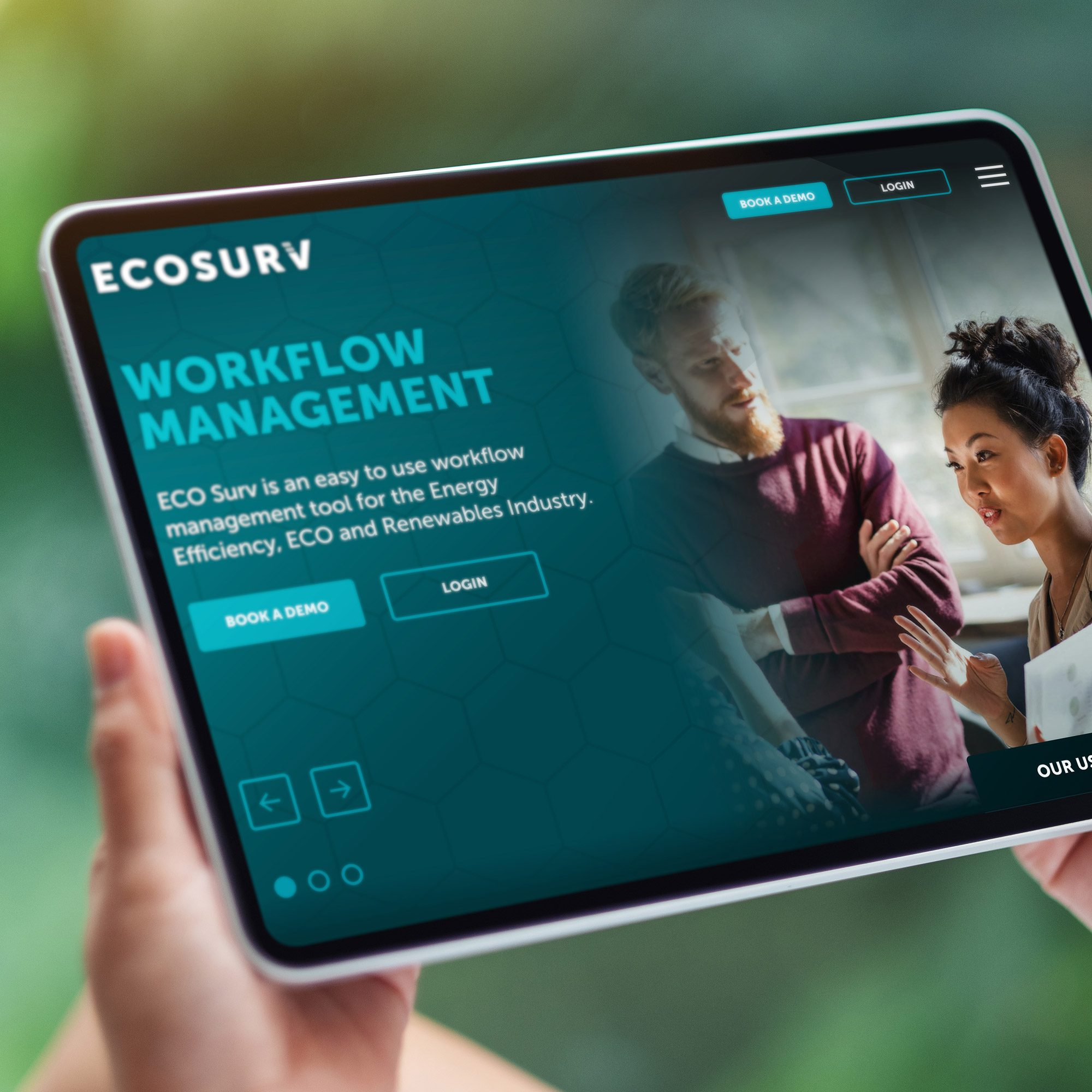 New brand and website design for ECO Surv in Lancashire
